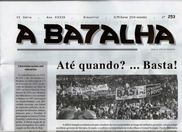 Resultado de imagem para A Batalha jornal anarco sindicalista