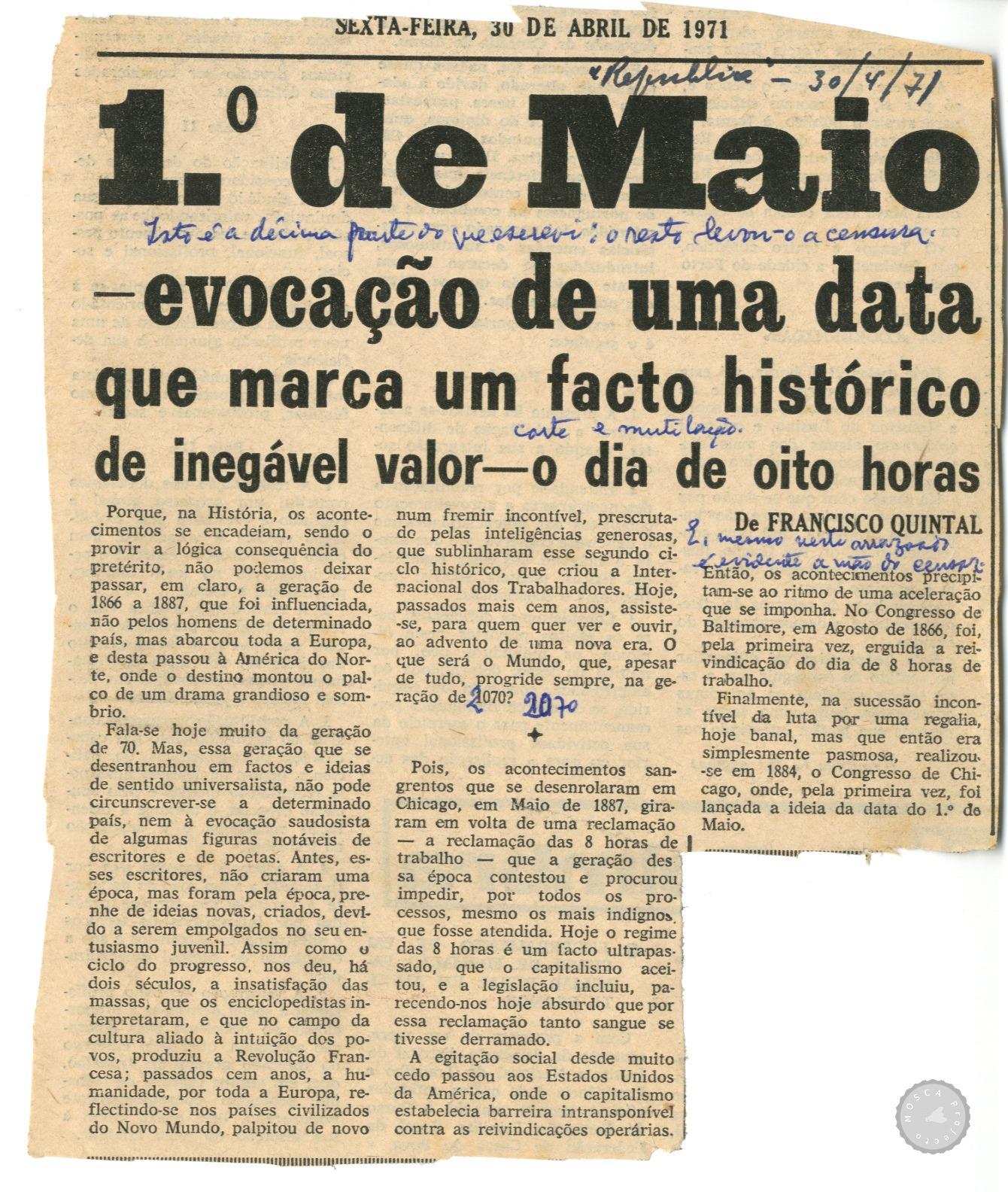 Resultado de imagem para imagens de dia 1 de maio de 1971