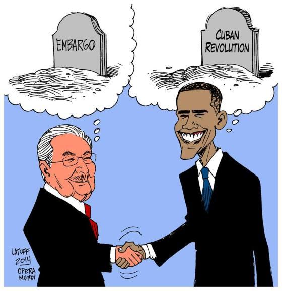 Raoul Castro und Barak Obama