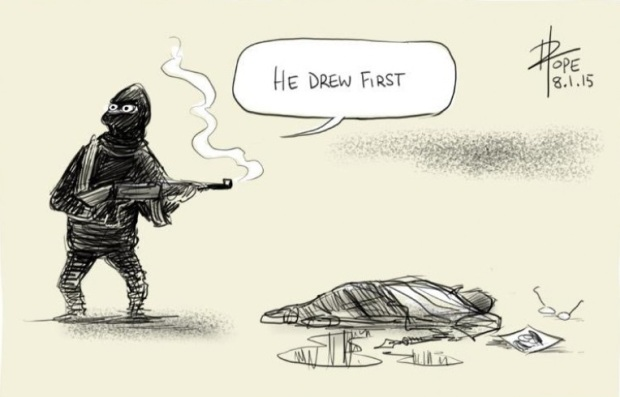 he-drew-first